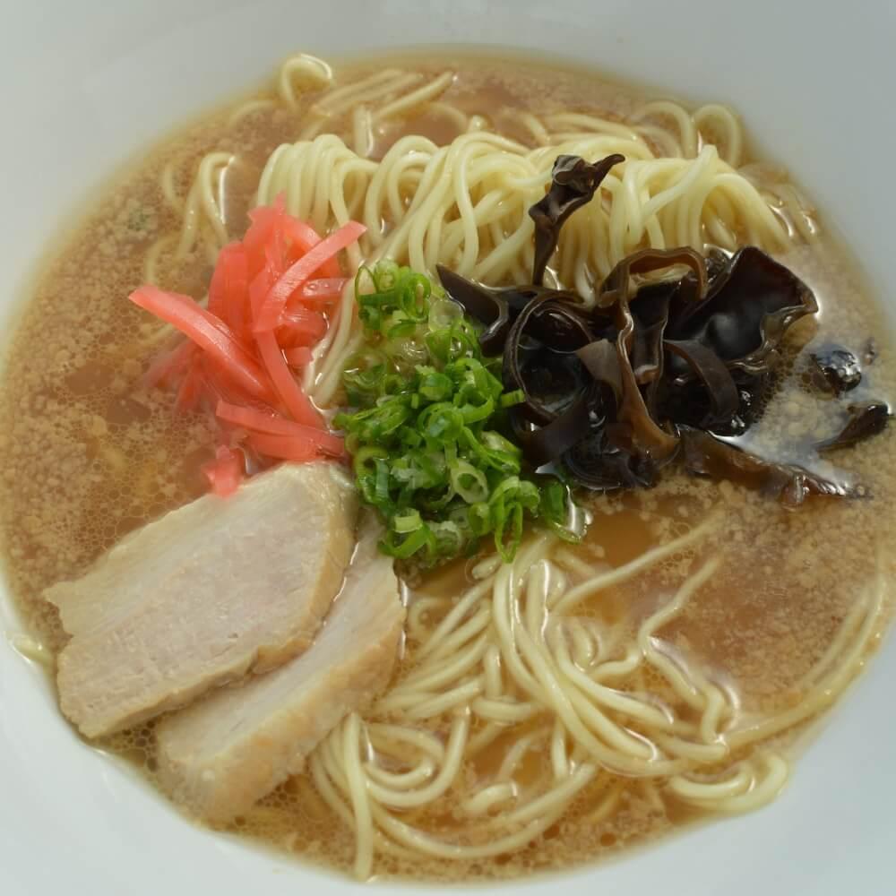 商品名:博多、低加水の極細麺・ストレート麺のとんこつ醤油ラーメン