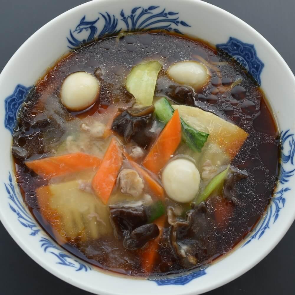 商品名:昇竜、中加水の中太麺・ストレート麺のこくうま醤油ラーメン