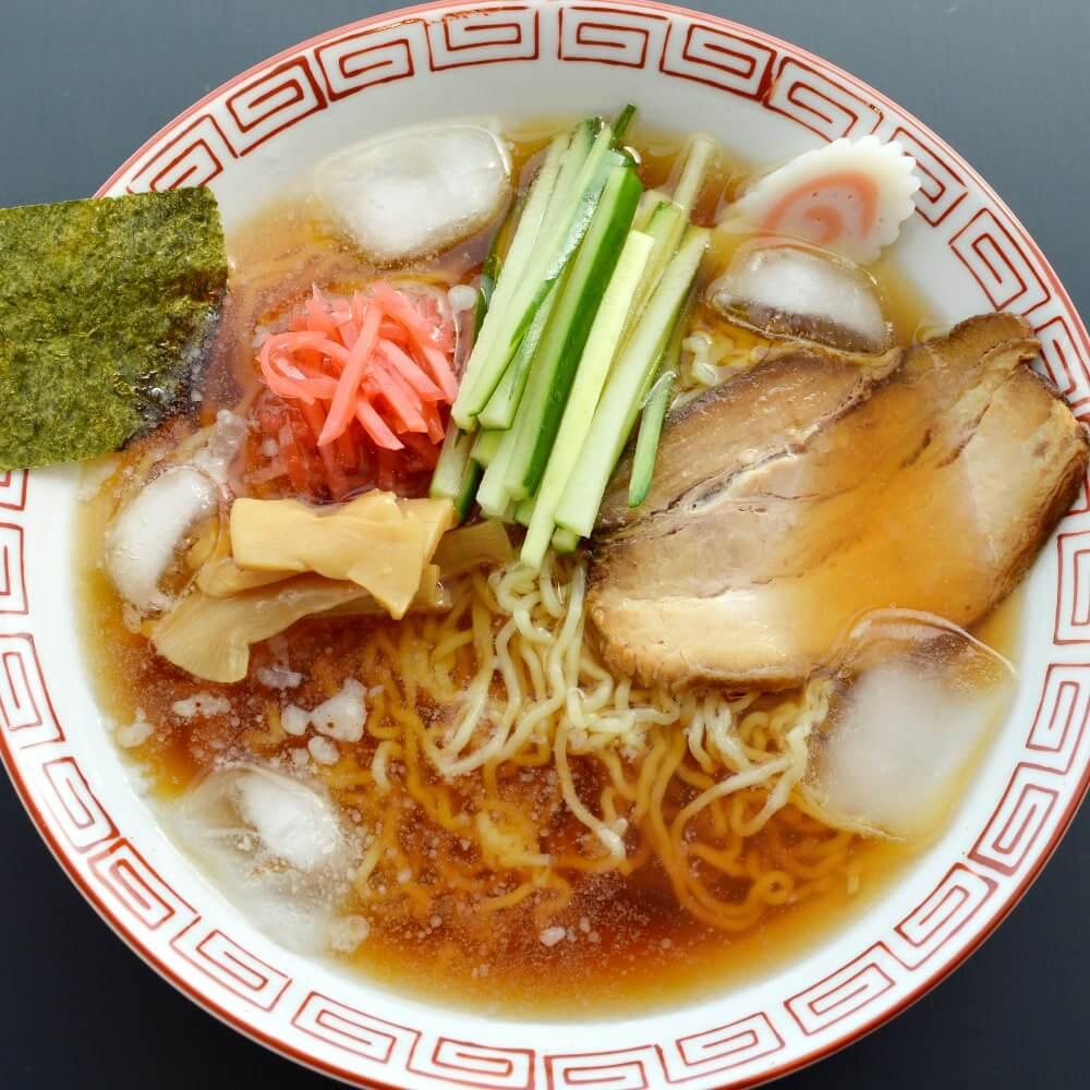 商品名:山形、多加水 熟成の極細麺・ちぢれ麺のあっさり醤油ラーメン