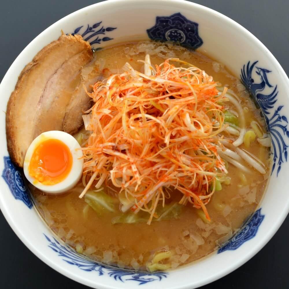 商品名:きりん、多加水 熟成の太麺・手揉み麺の味噌ラーメン