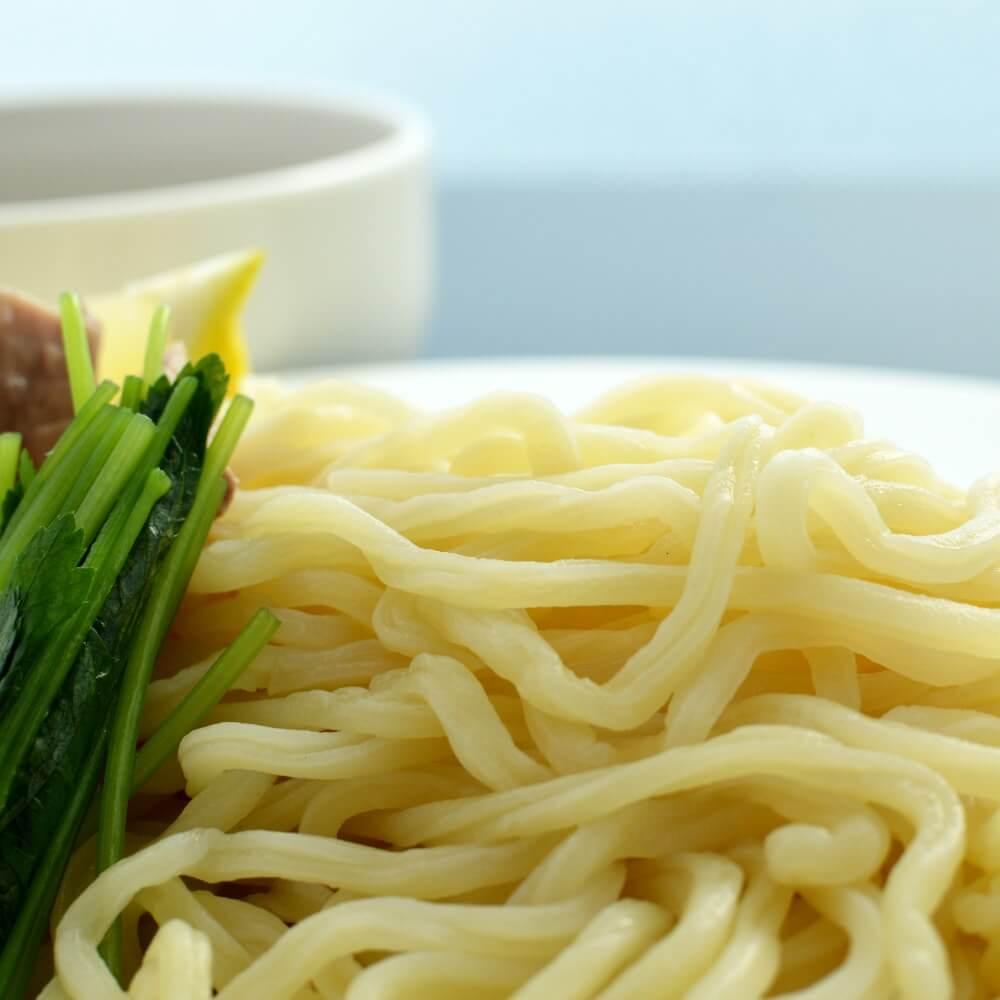 商品名:溝入、多加水 熟成の太麺・ストレート麺のつけめん